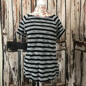 Lou & Grey striped short sleeve sweater Sz M